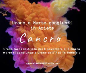 Cancro marte e Urano in ariete 2019