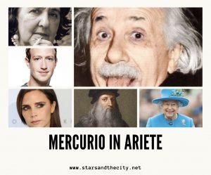 Mercurio in Ariete Stars and the city