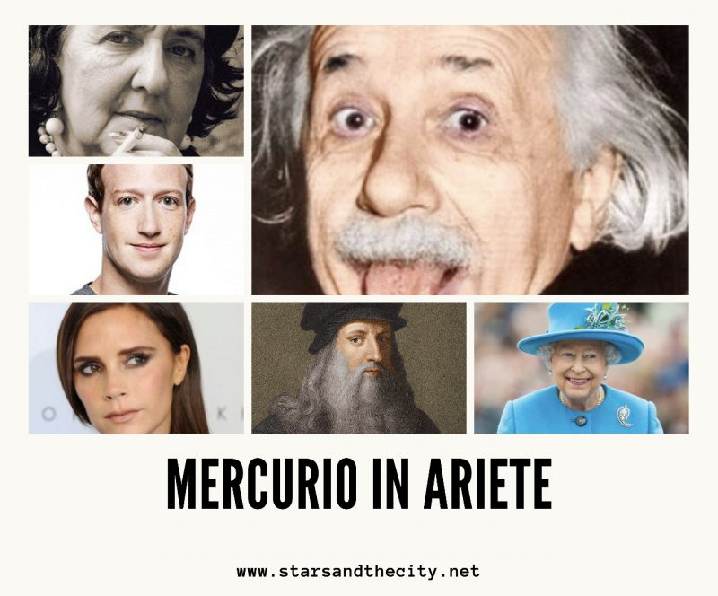 Mercurio in Ariete Stars and the city
